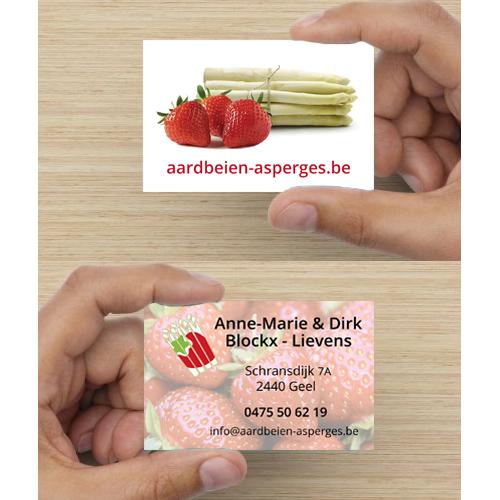 Aardbeien & Asperges Visitekaartje