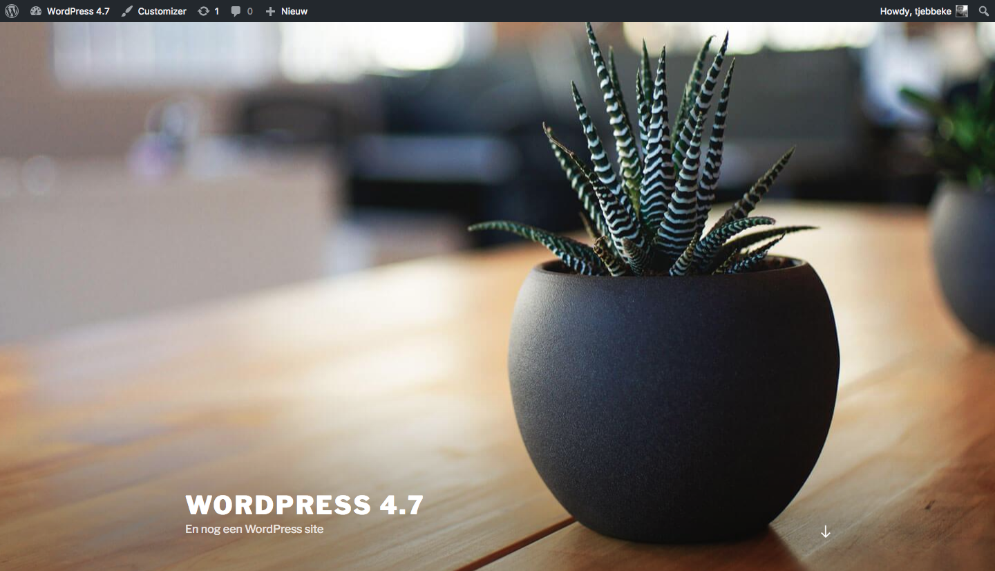WordPress 4.7 default thema