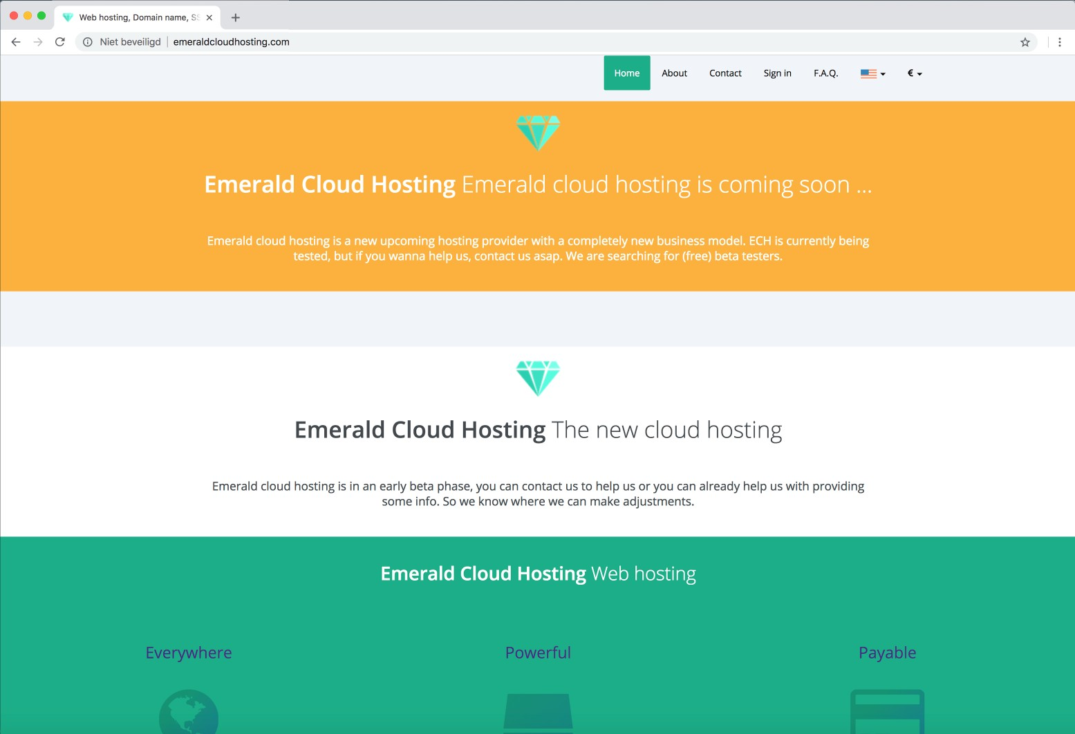 Emerald Cloud Hosting