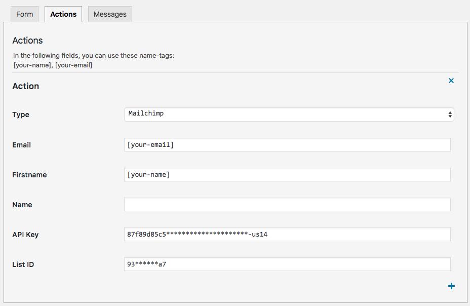 Configureer Mailchimp acties in Made IT Forms
