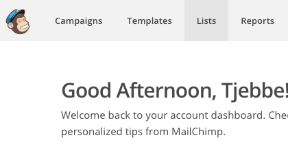mailchimp list id - list menu