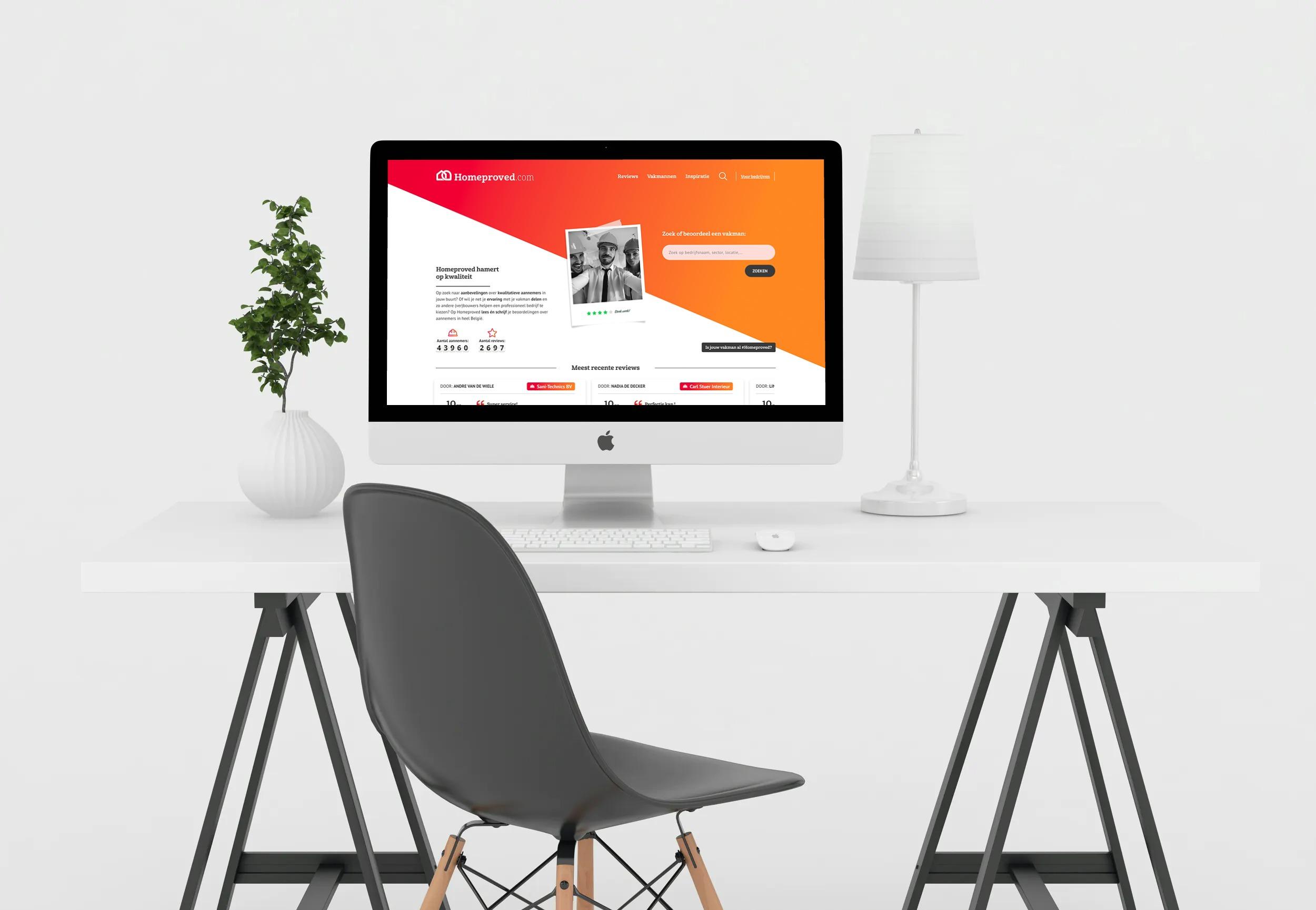 Website homeproved.com ontwikkeld door Made I.T.