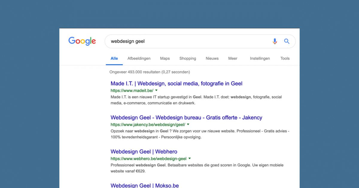 Scoren in Google door SEO