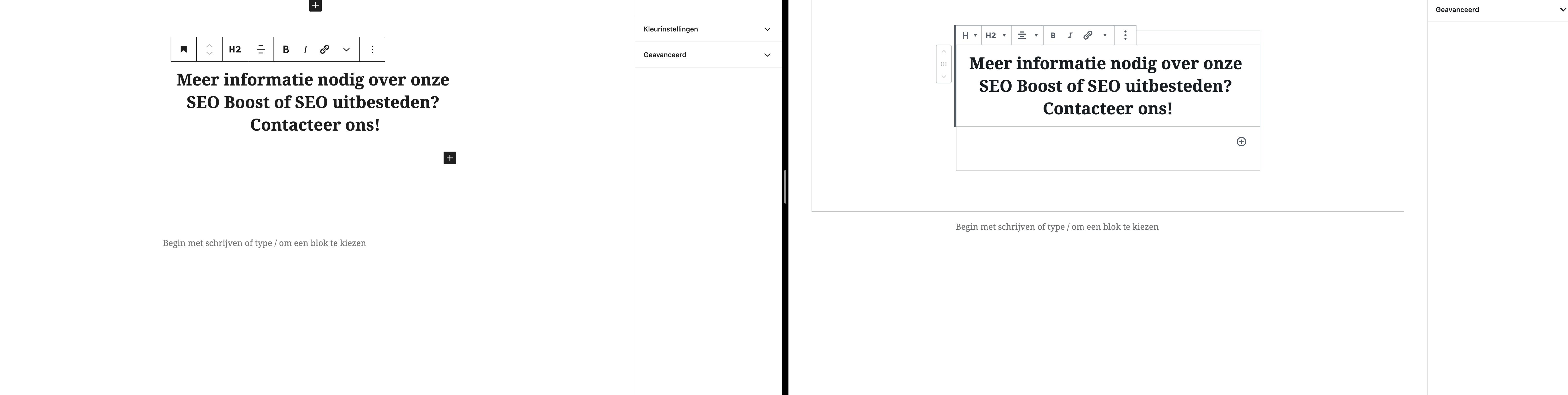 WordPress 5.5 vs 5.4 - Gewijzigde icoontjes