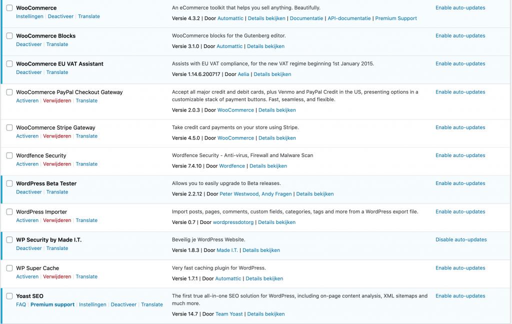 WordPress 5.5 vs 5.4 - Automatisch plugin updates